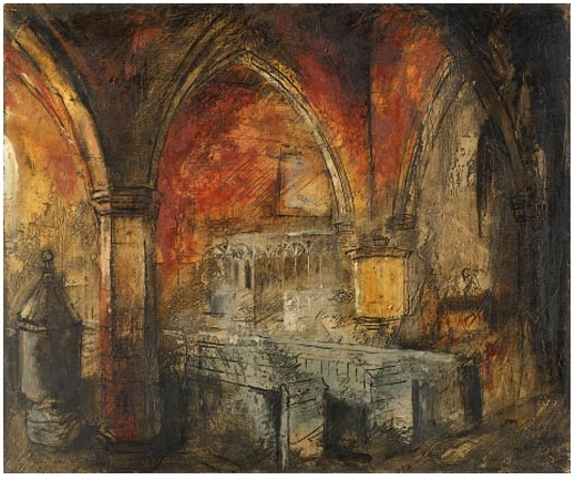 john piper painting wolfhampcote church
