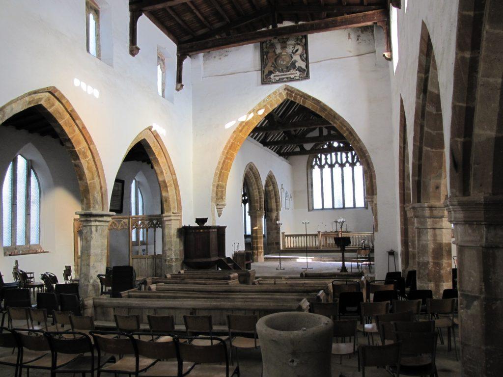 wolfhampcote church interior