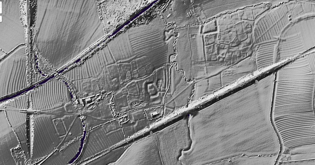 wolfhamcote braunstonbury lidar map